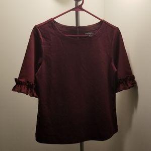 NWOT Ruffle sleeve workwear blouse top
